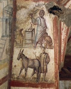 4th century fresco in Via Latini catacombs