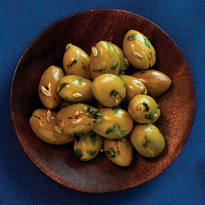 Green Olives with Fennel Seeds